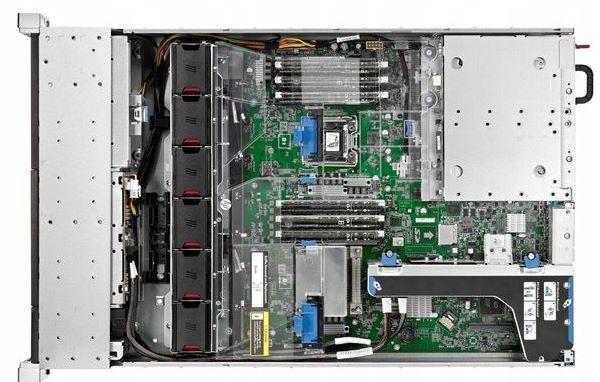 Фото сервера HP DL380e G8 8C 2,4 ГГц e5-2450 32 ГБ 12×3,5