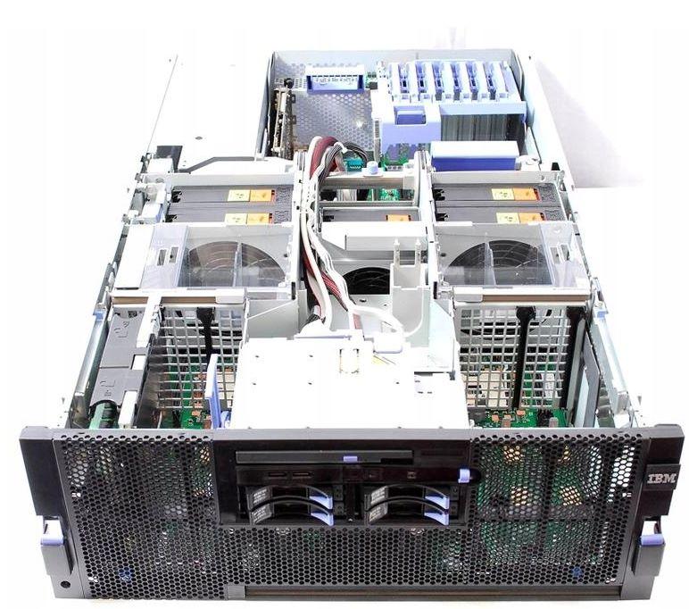 Фото сервера СЕРВЕР IBM X3850 M2 4X XEON E7450 128 ГБ, 140 ГБ, DVD