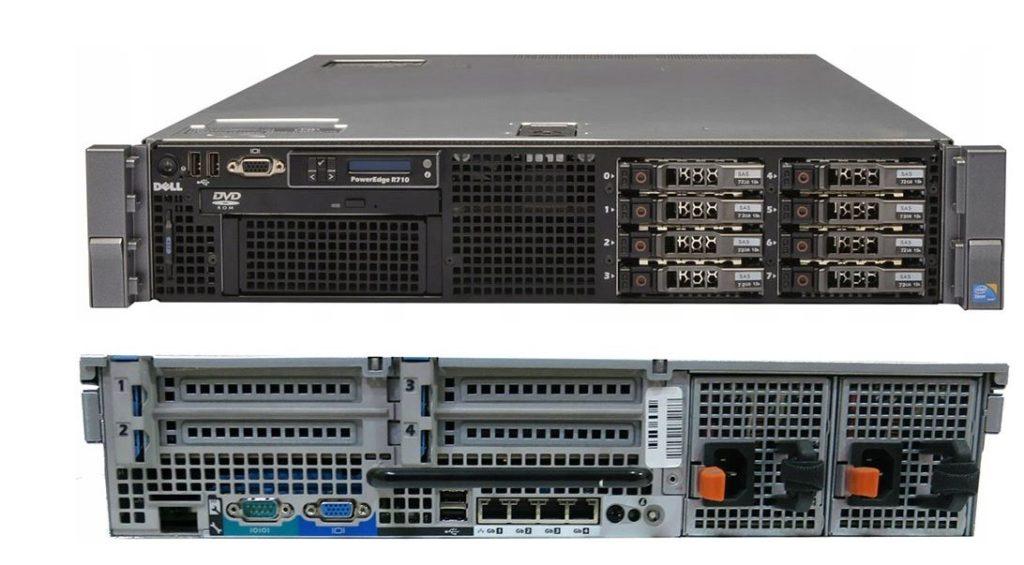 Фото сервера Dell R710 II 2x X5650 64 ГБ DDR3 2x 600 ГБ
