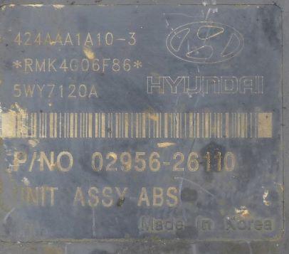 ABS HYUNDAI SANTA FE  58900-26160 bh60104210 02956-26110