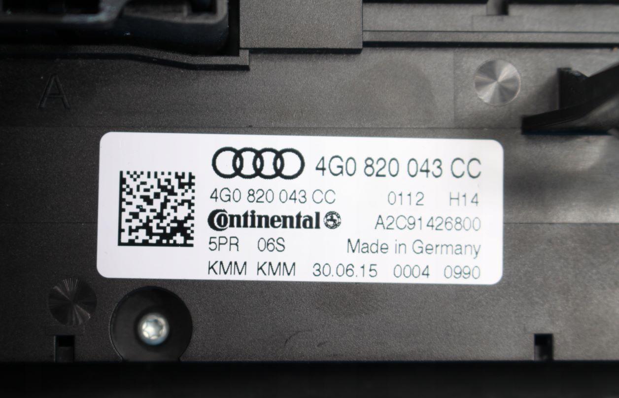 Панель кондиционера Audi A6 4G0 4G0820043K