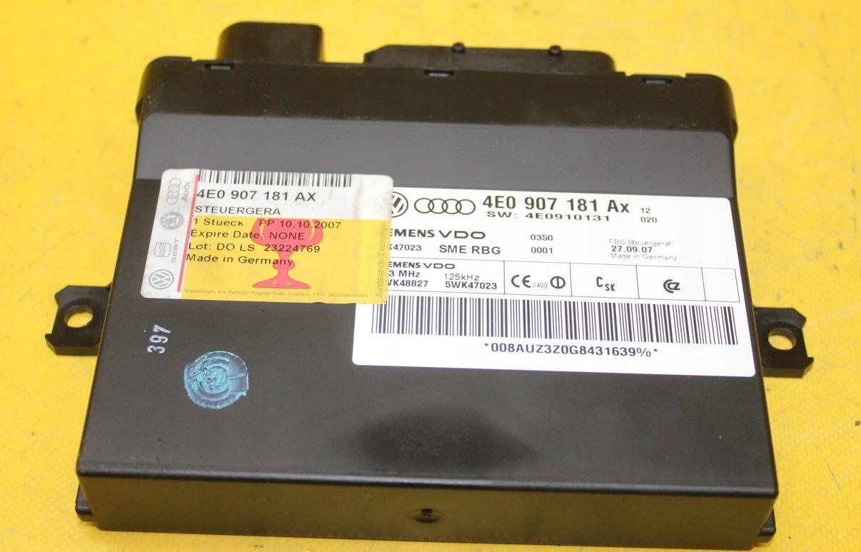 Блок управления Audi 4E0907181AX